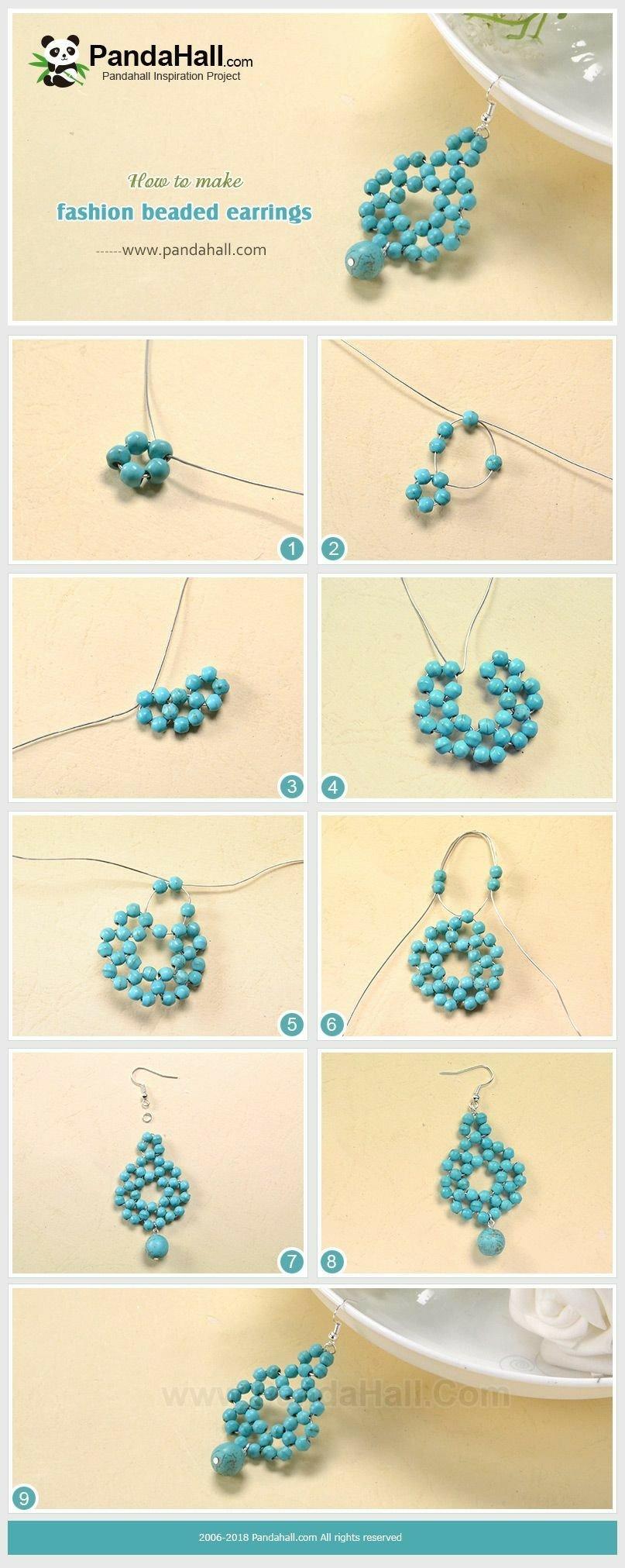 Bisuteria paso a paso aretes jewelry earrings