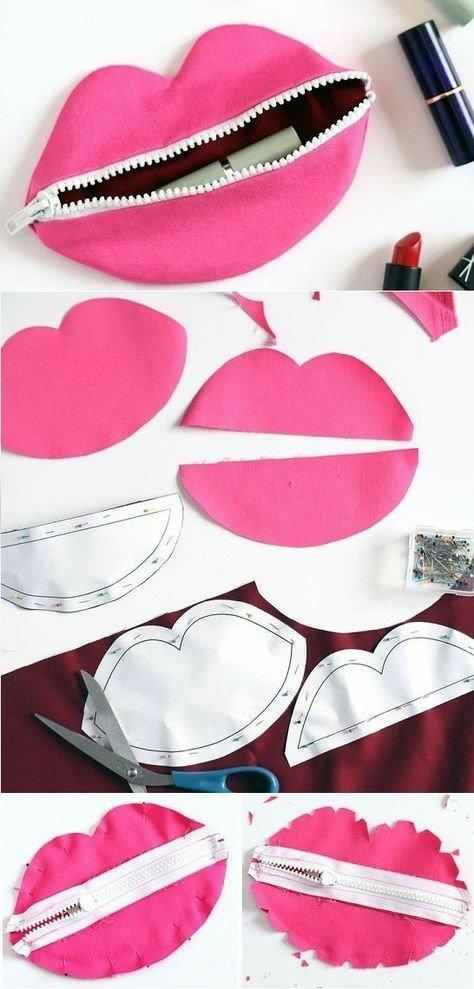 Cartuchera porta cosmeticos rosado diy