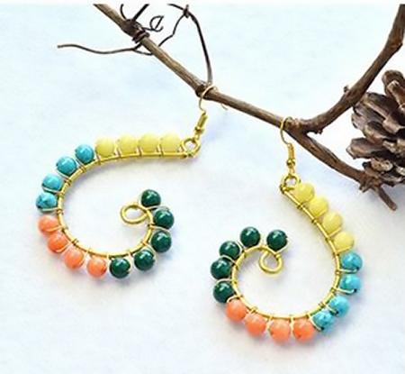 aretes earrings bisuteria jewelry handmade diy wire
