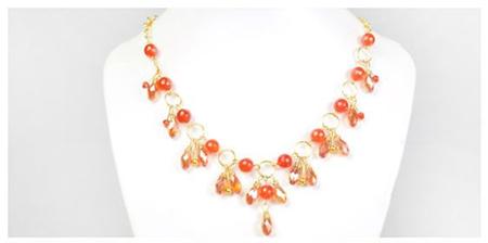 handmade collares beads necklace drops crystals DIY