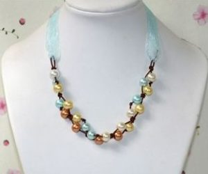 collares perlas nudos cuero cintas necklaces jewelry pearls knots