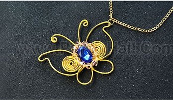 bisuteria jewelry handmade diy dije mariposa pendiente colgante butterfly pendant necklaces collares