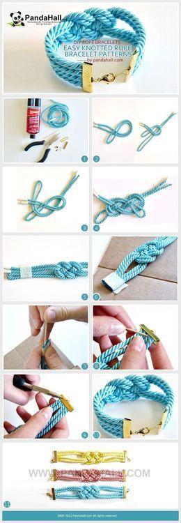 pulseras macrame nudo josefina jewelry bracelets handmade DIY como hacer