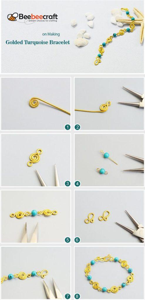 pulseras bracelets como hacer tutoriales tutorials how to make alambre wire