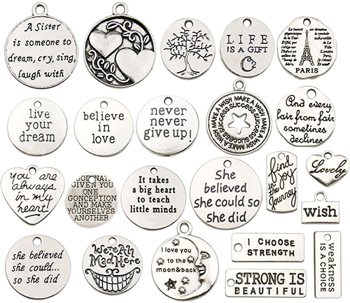 40pcs-Inspiration-Words-Charms-handmade-jewelry-making-supplies