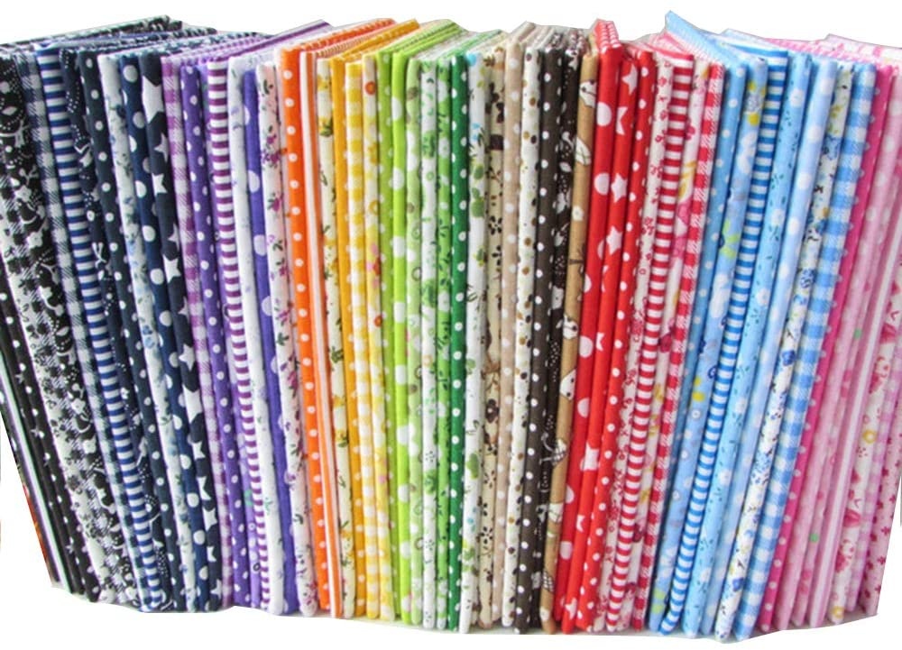"56pcs/lot 9.8"" x 9.8"" (25cm x 25cm) No Repeat Design Printed Floral Cotton Fabric"